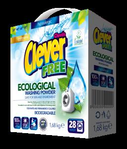Clever FREE - ekologiczny, hipoalergiczny proszek do prania